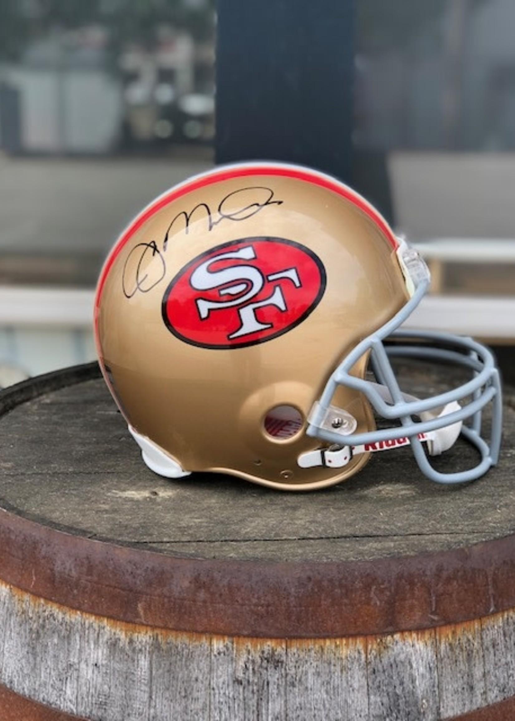 National  Sports Joe Montana Signed 49ers Helmet