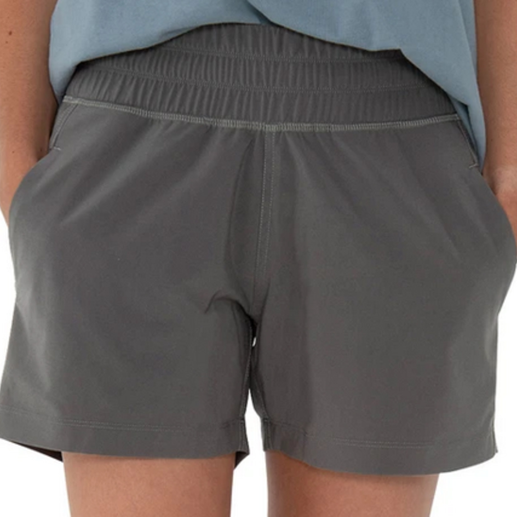 Free Fly W Pull-On Breeze Short Graphite