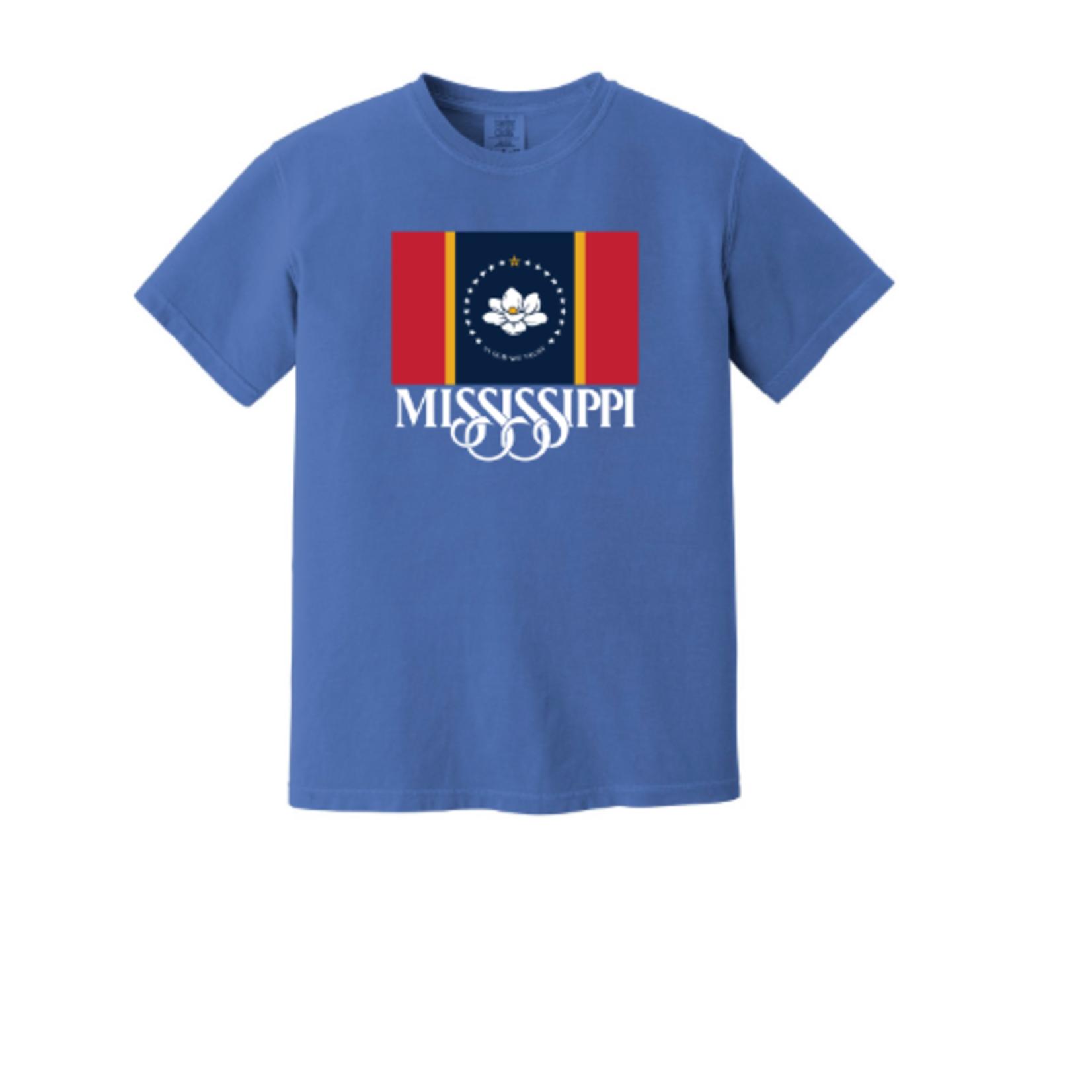 Grind City Design Mississippi Flag Front S/S