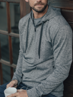 The Normal Brand Performance Half Zip Hoodie Mineral Blue