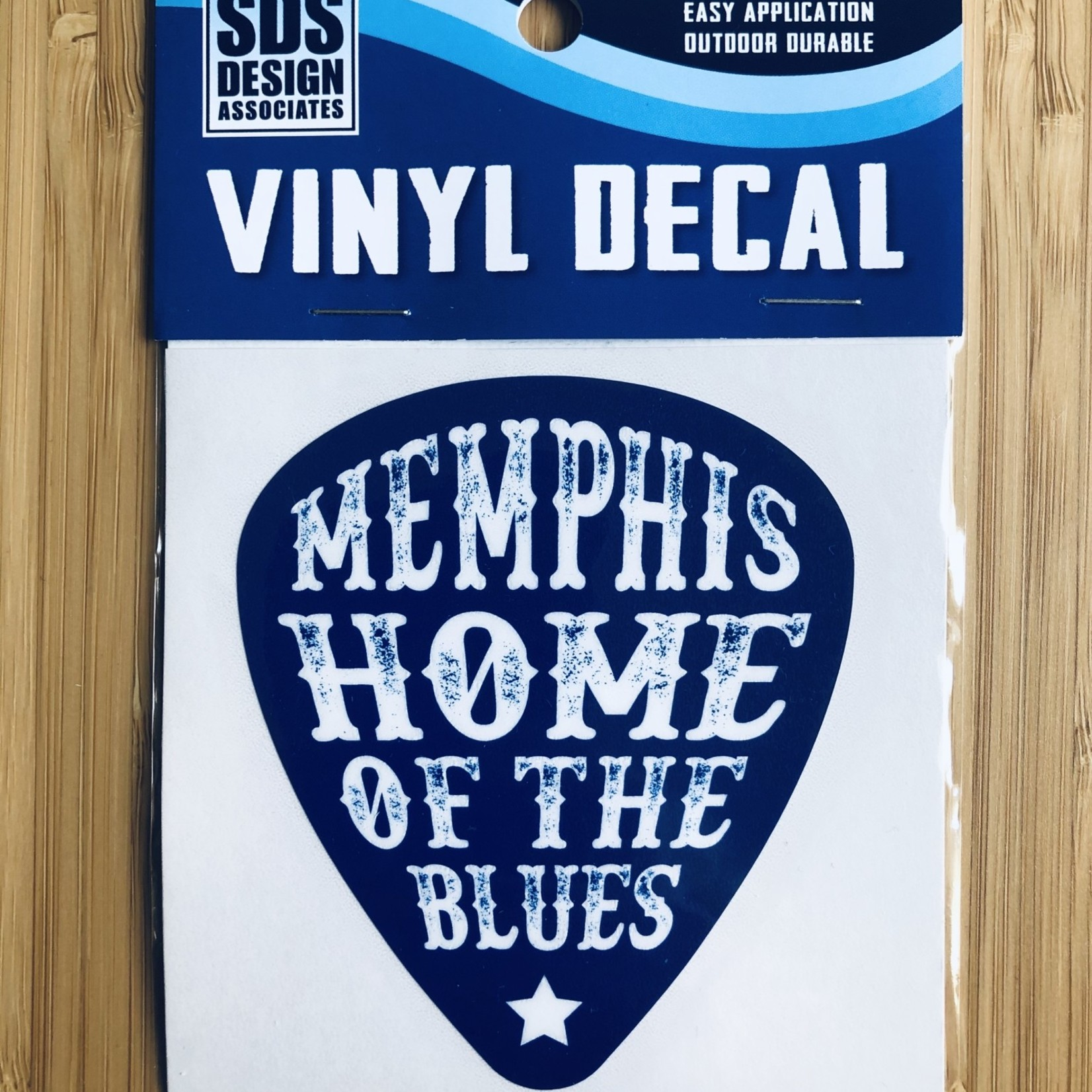"""SDS Design Home Of The Blues Guitar Pick 3"""" Decal"""