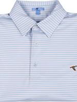GenTeal Apparel Grenadine Milieu Stripe Polo