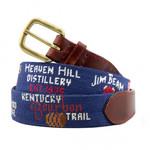 Smathers & Branson Kentucky Bourbon Trail Needlepoint Belt