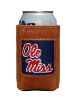 Smathers & Branson Ole Miss Navy Needlepoint Coozie