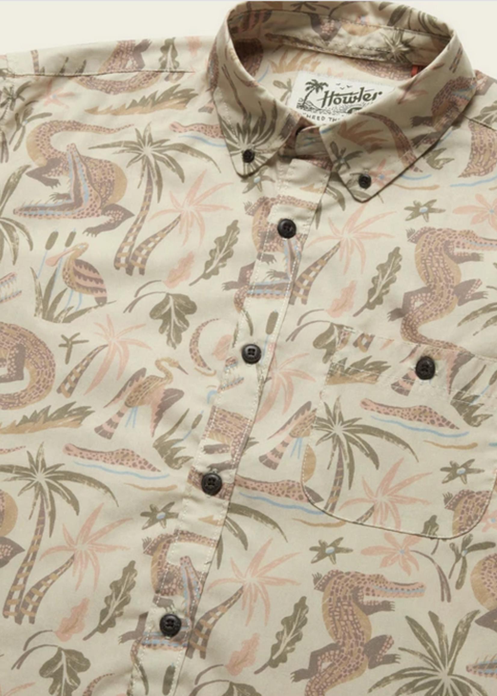 Howler Bros Mansfield Shirt Lazy Gators Egret