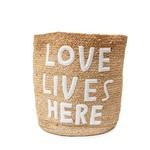 Sugarboo & Co Love Lives Here Jute Basket