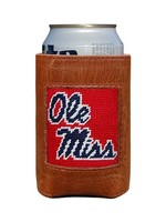 Smathers & Branson Ole Miss Red Needlepoint Coozie