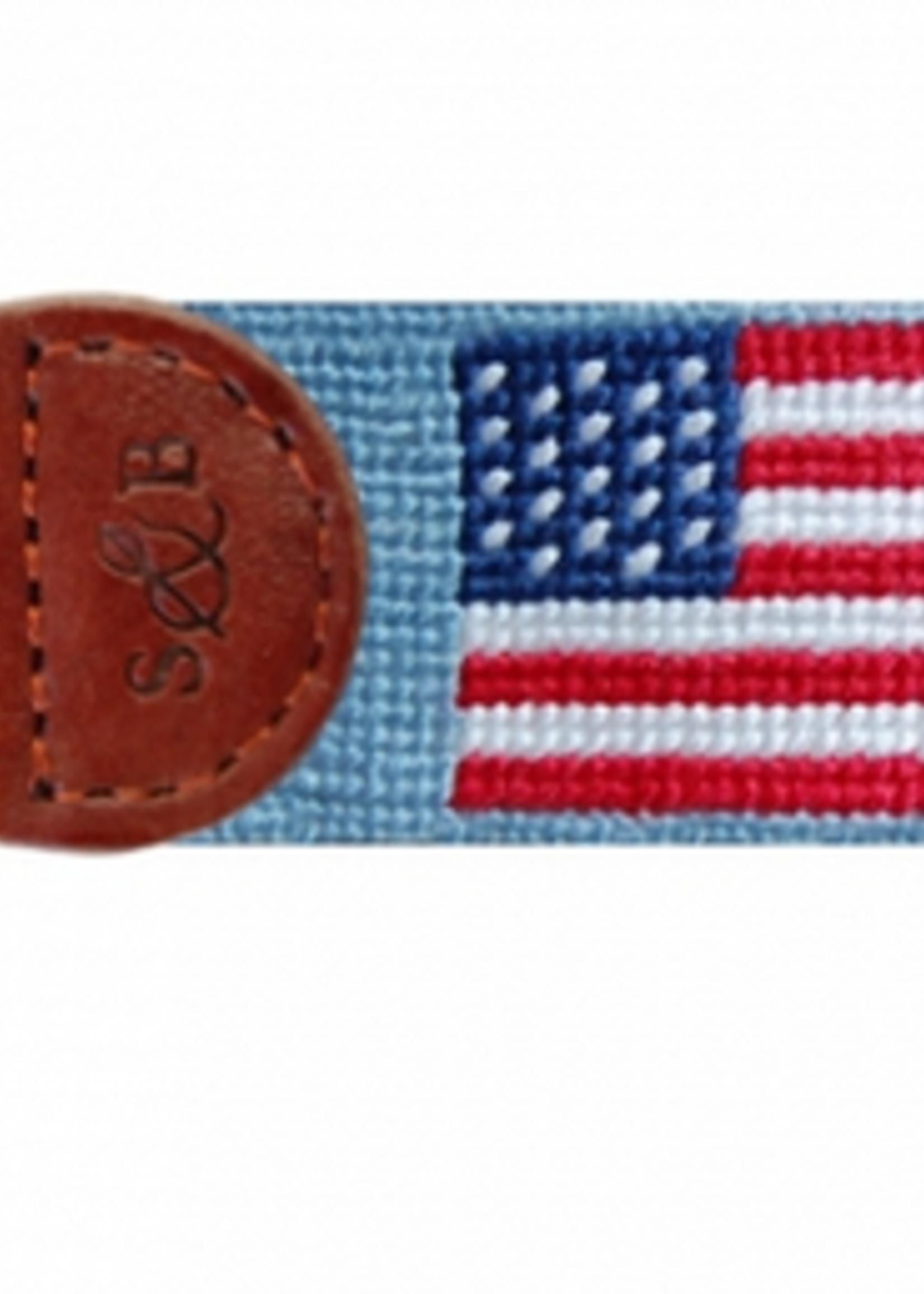 Smathers & Branson American Flag Key Fob Antique Blue
