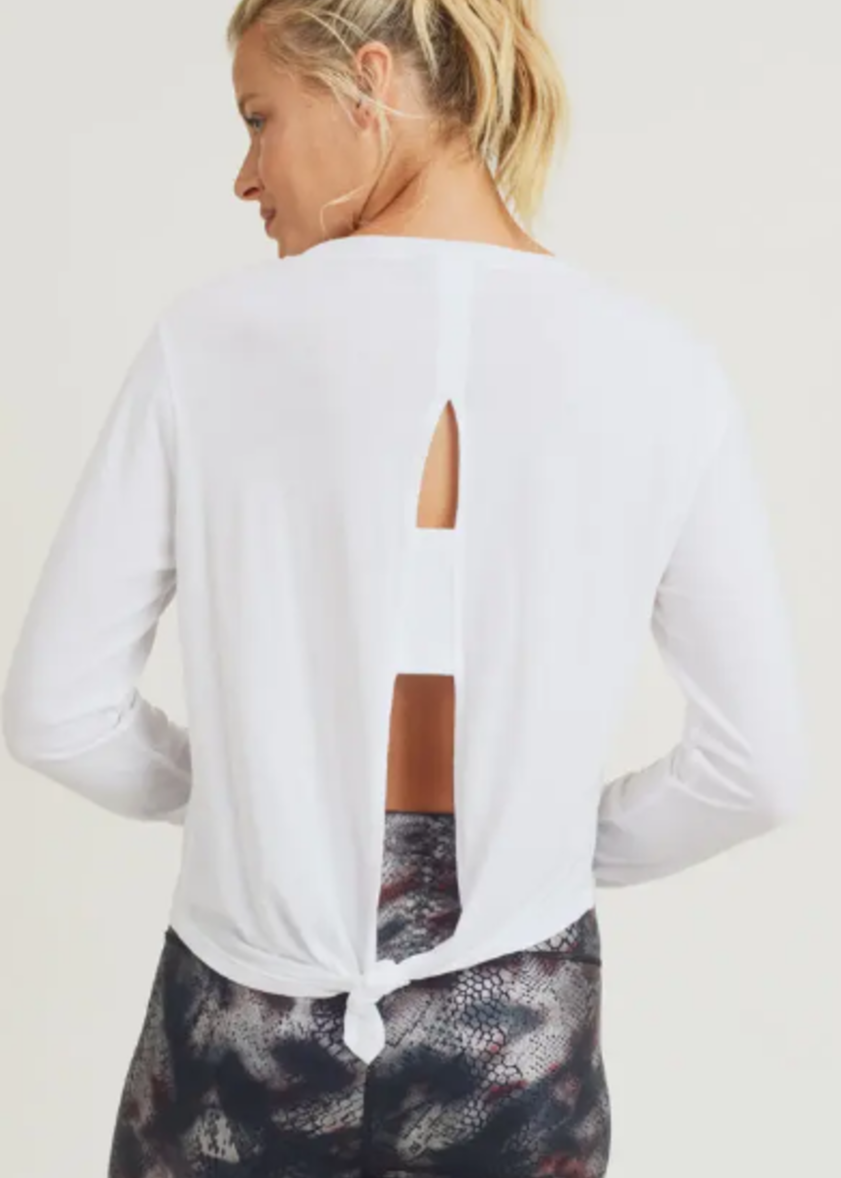 Mono B Tie-Back Double Top White