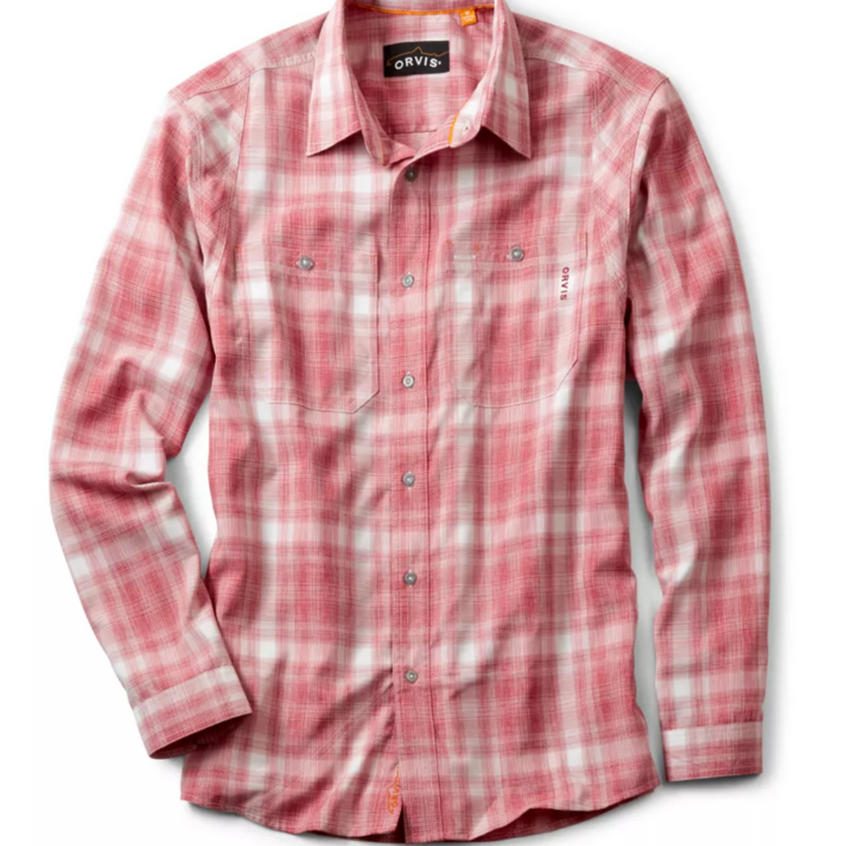 Orvis Tech Chambray Work Shirt Currant