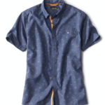Orvis Tech Chambray Navy Trout S/S