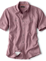 Orvis Tech Chambray Deep Red S/S