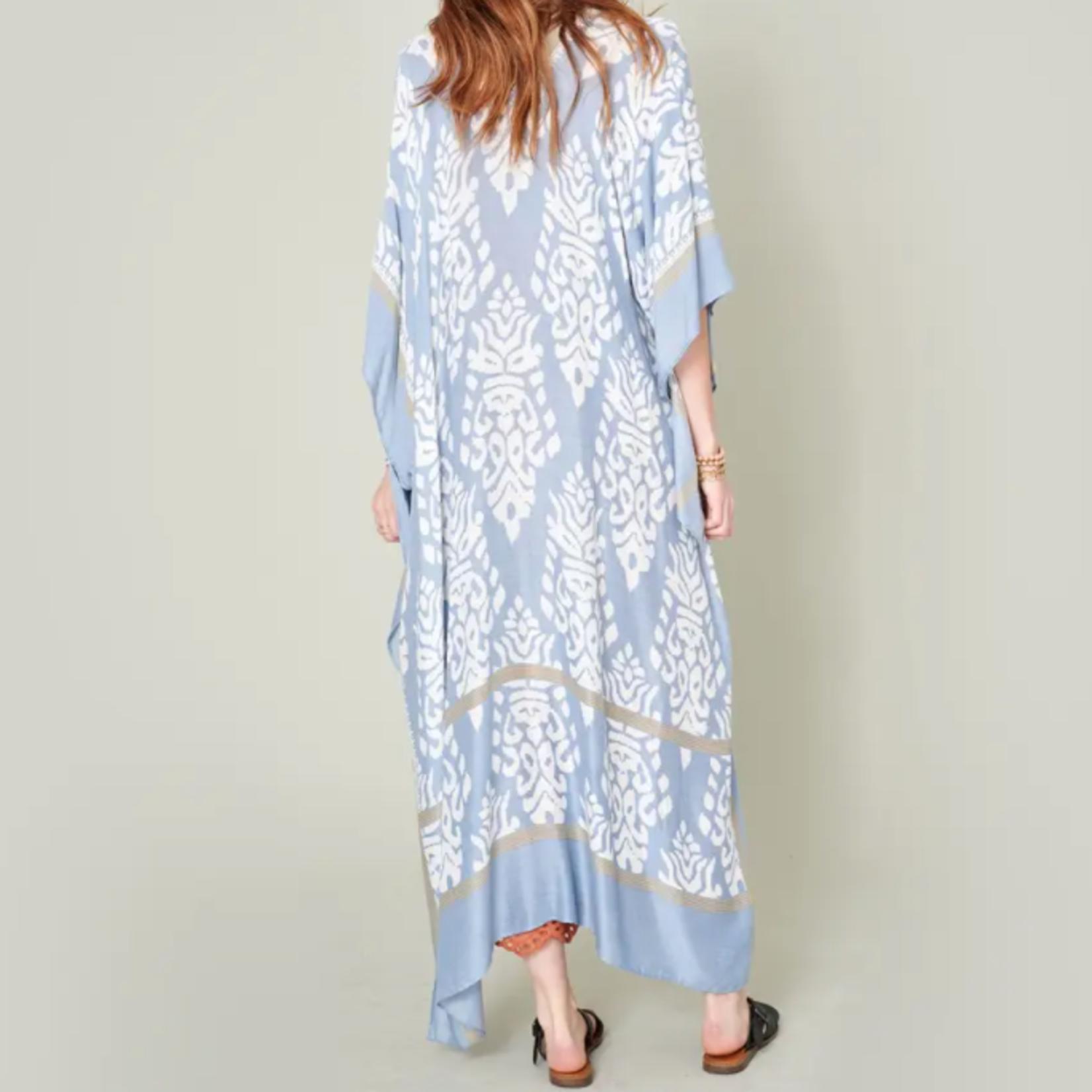 Oxbeau Soft Blue Long Kimono