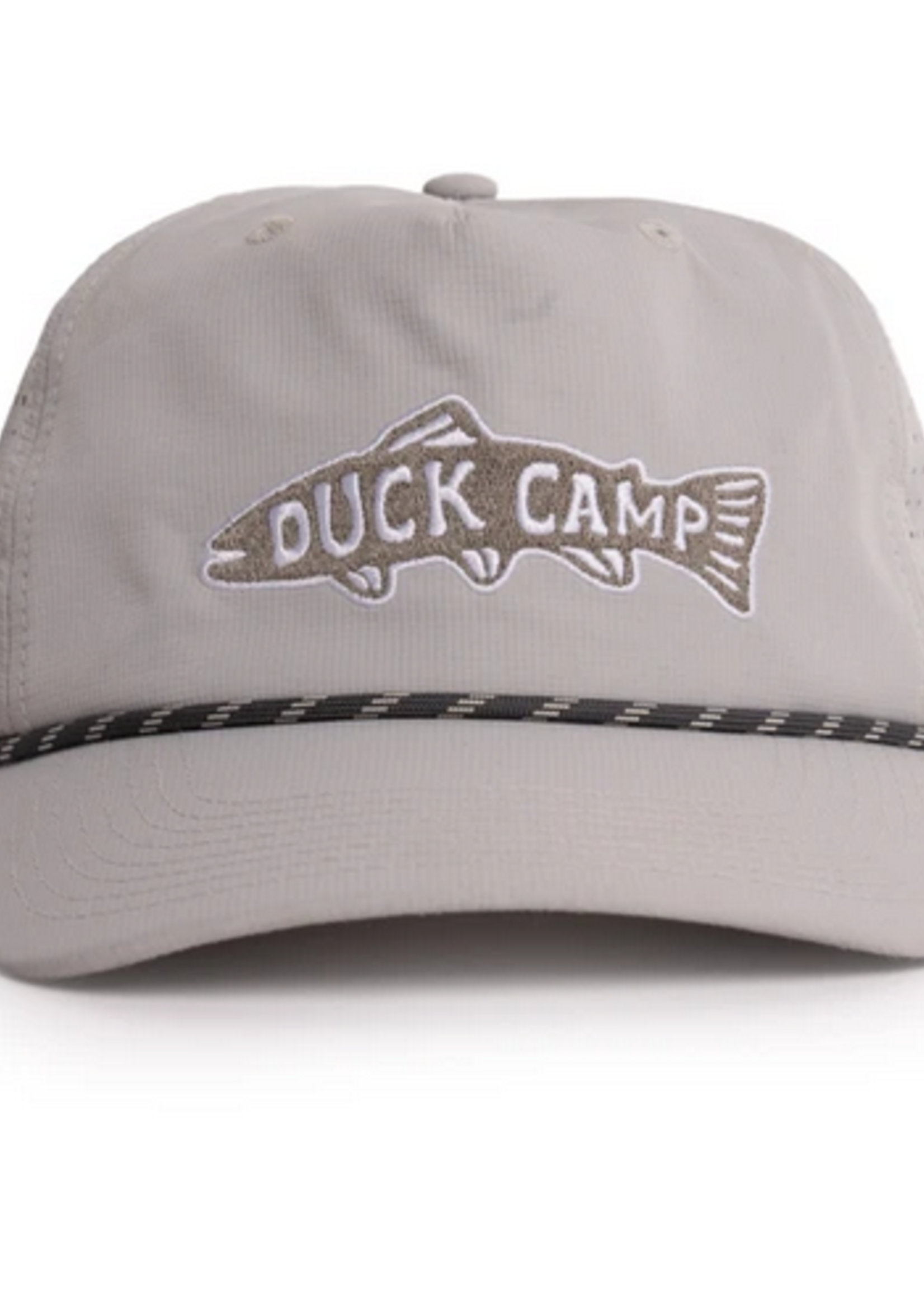 Duck Camp Trout Patch Hat Grey