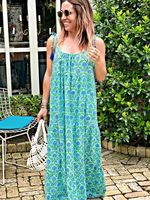 Modern Soul Hydrangea Maxi Dress