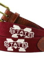 Smathers & Branson Mississippi State Needlepoint Belt