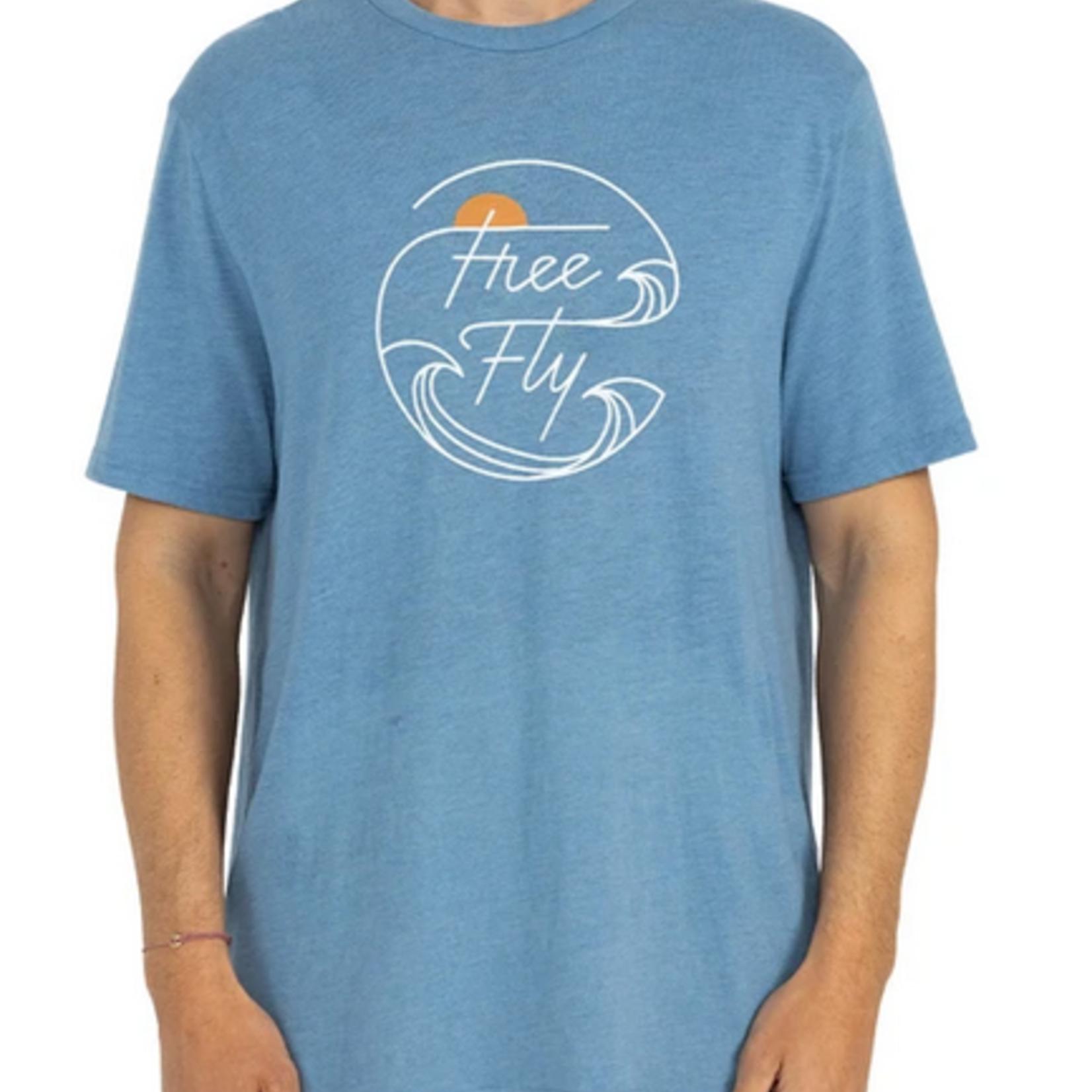 Free Fly High Seas Tee Blue Reef