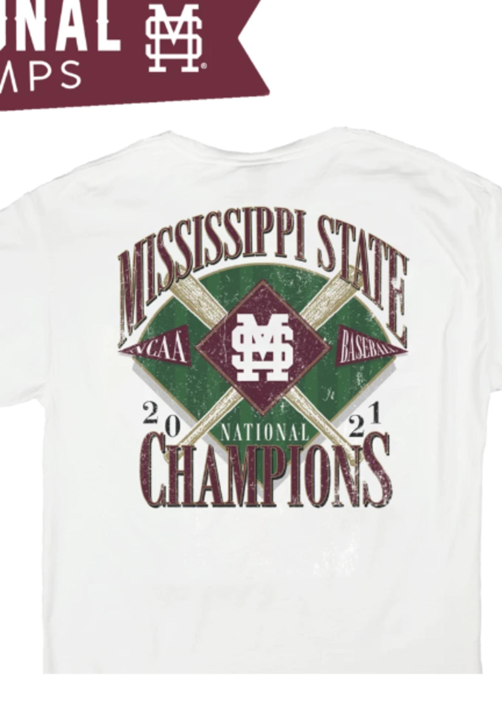 B Unlimited 2021 National Championship Logo Pocket T-Shirt Mississippi State