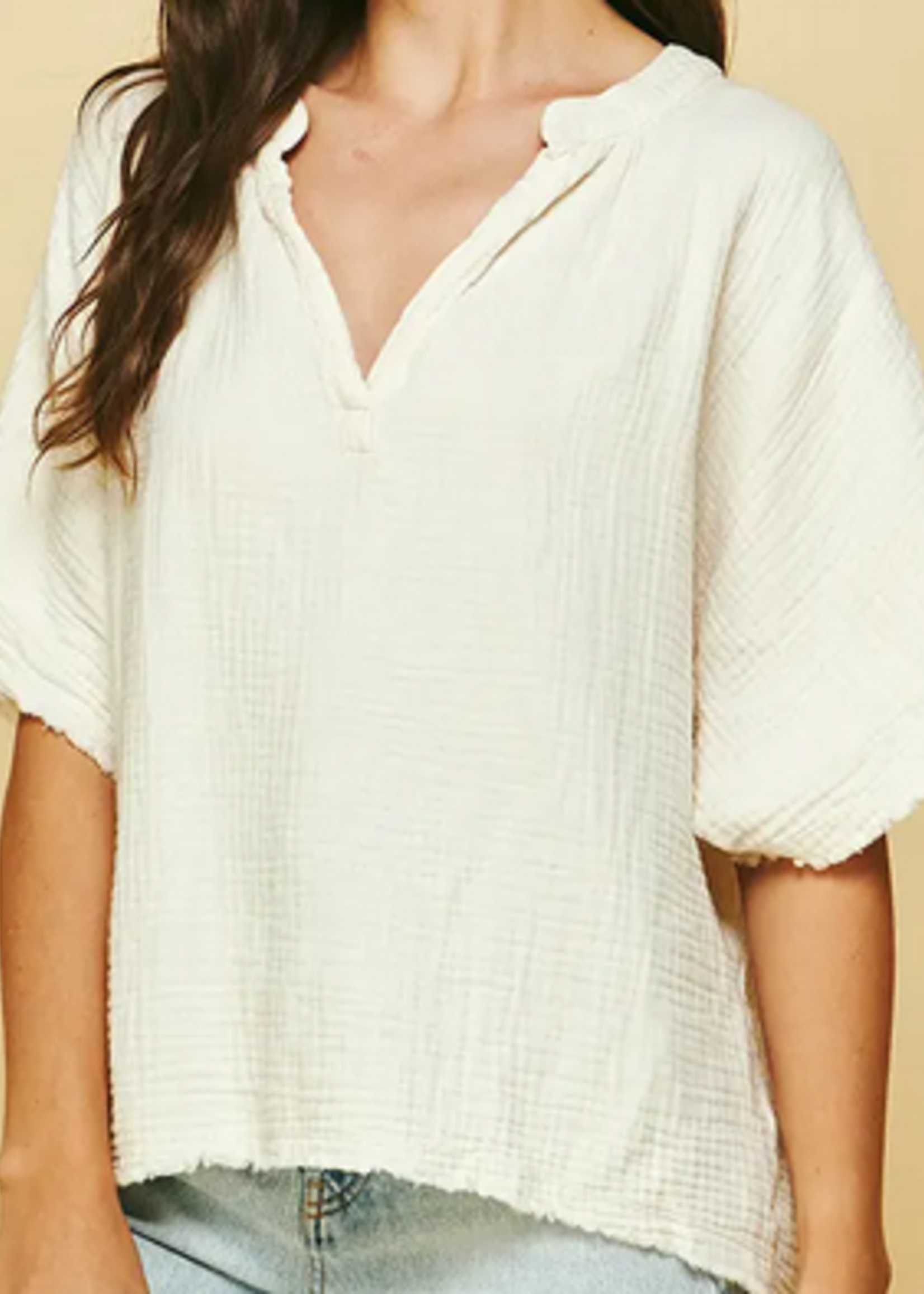 PINCH Ivory Cotton Top