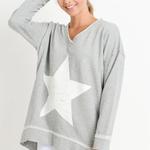 Mono B Star Longline Sweatshirt