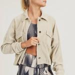 Mono B Cropped Corduroy Jacket