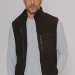 The Normal Brand Henry Sherpa Vest Black