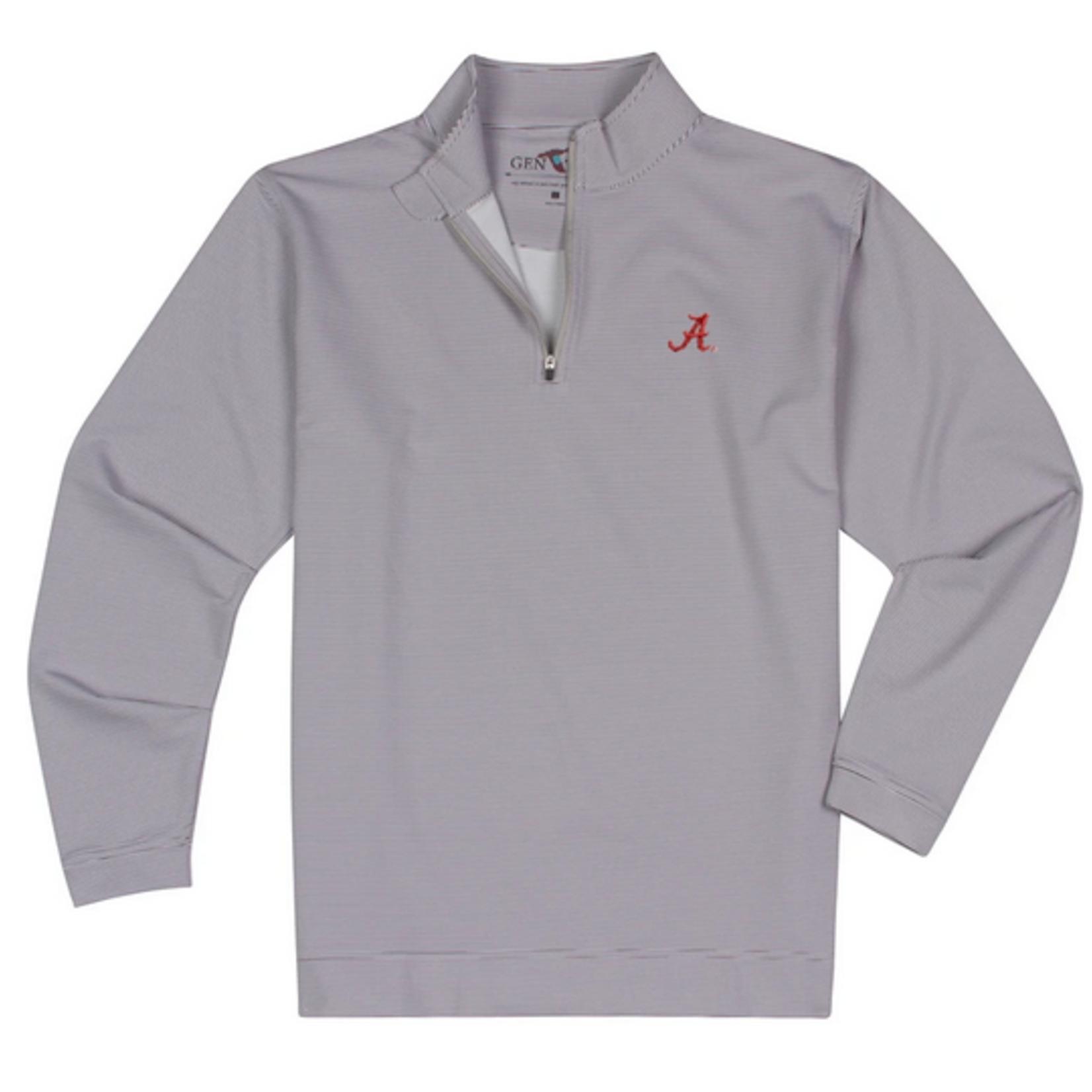 GenTeal Apparel Alabama Charcoal Pinstripe Performance Quarter-Zip
