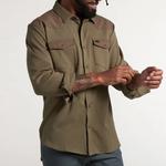 Howler Bros Stockman Stretch Snapshirt Dusty Green/Teak