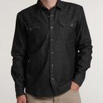 Howler Bros Dust-Up Denim Snapshirt Washed Black