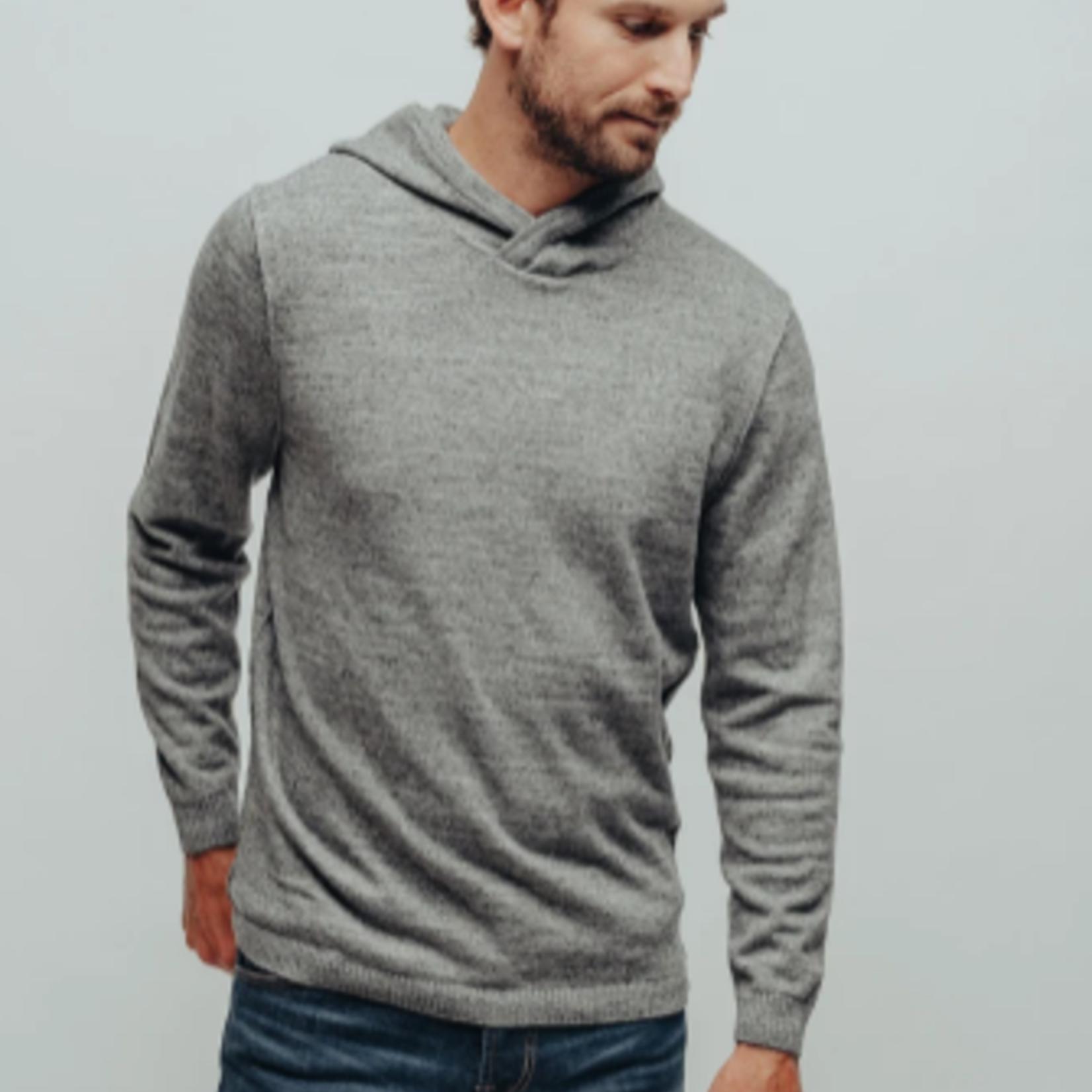 The Normal Brand Roll Hem Hoodie Grey