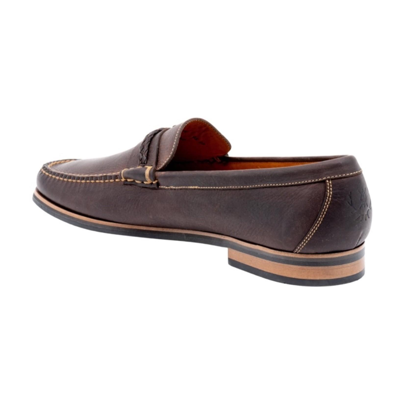Martin Dingman Montgomery Oiled Saddle Leather Braided Leather Knot - Walnut