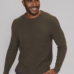 The Normal Brand Pique Stitch Crew Dusty Olive