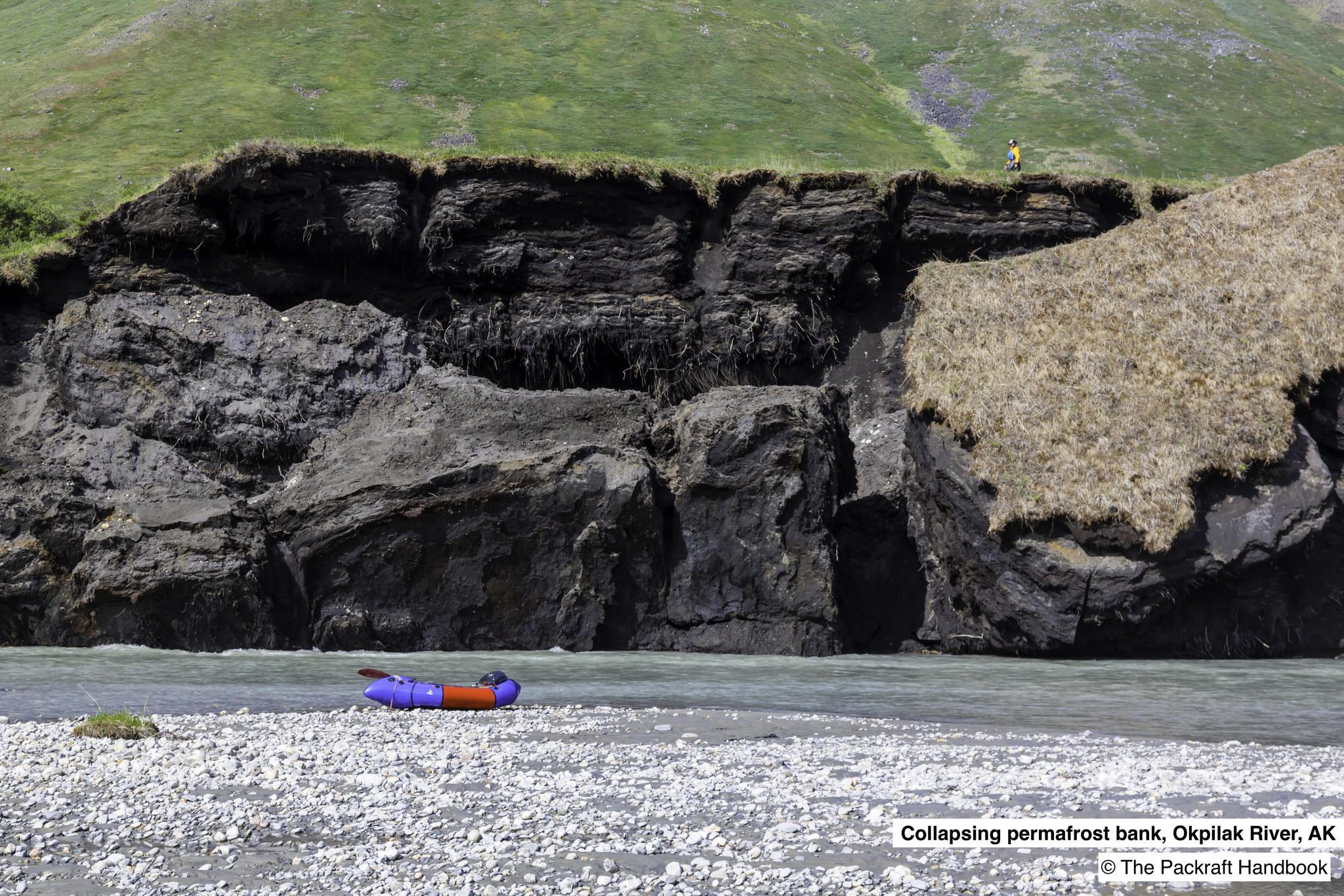 Collapsing Permafrost Bank on the Okpliak Rive, AK