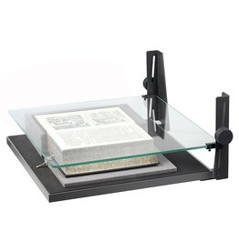 """Kaiser Kaiser Book Holder for books up to 44 x 41 cm (17.3 x 16.1""""), glass plate, height adjustable up to 145mm (5,7""""), incl. foam sheets for height adjustment"""