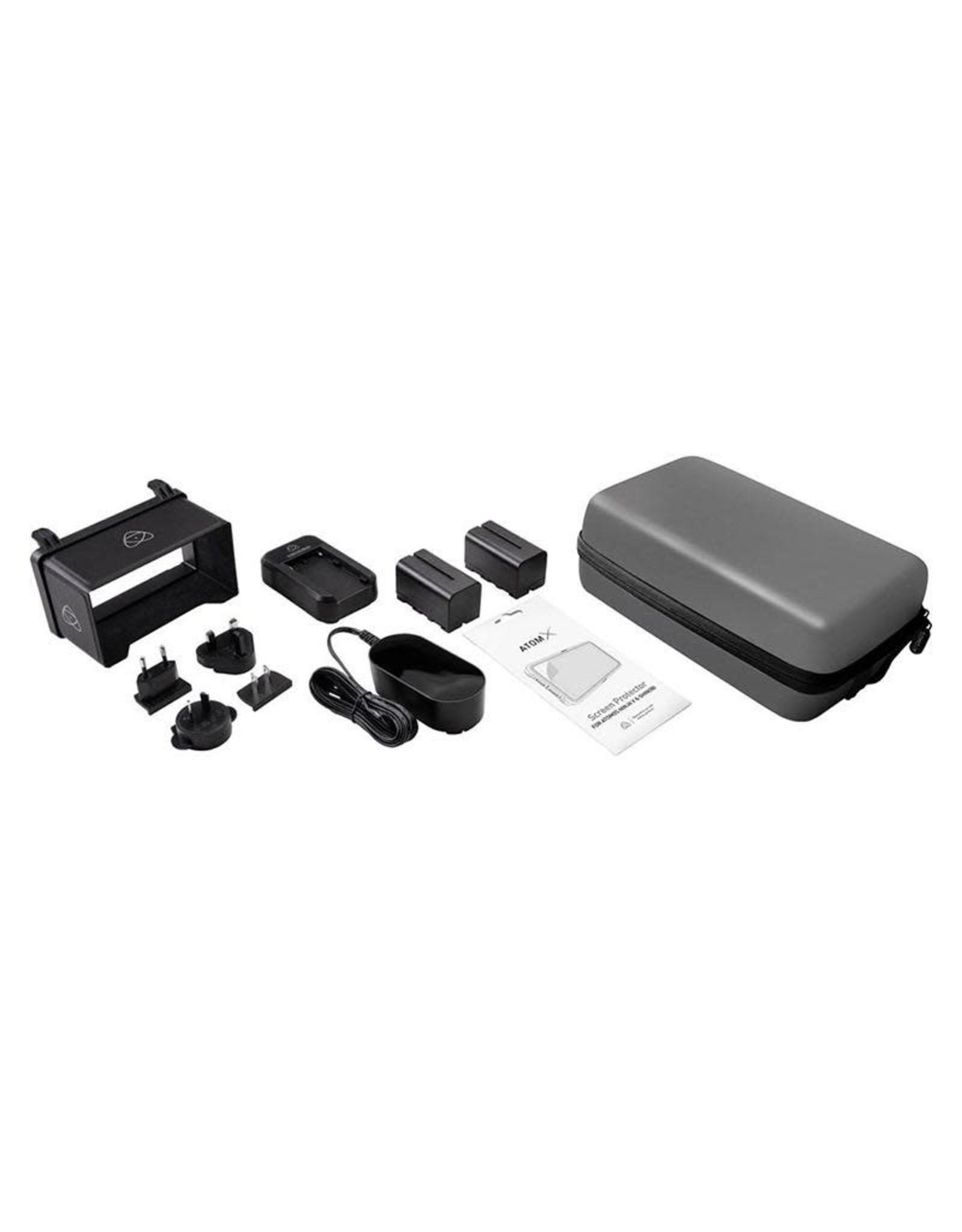 Atomos Atomos Shinobi SDI Accessory Kit: Suitable for Shinobi, Shinobi SDI and Ninja V. Travel Case, 2 x NP-F750 5200mAh battery, Fast charger, DC Power Supply, Sunhood