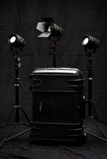 Fiilex Fiilex K301 Classic: Three Light P360 Classic LED Interview Travel Kit 3x (P360 Classic, Barndoor, Power Adapter, Reverse Leg Light Stand) 1x (Extra Small Softbox Kit) 1x (K-Class Rolling Case)