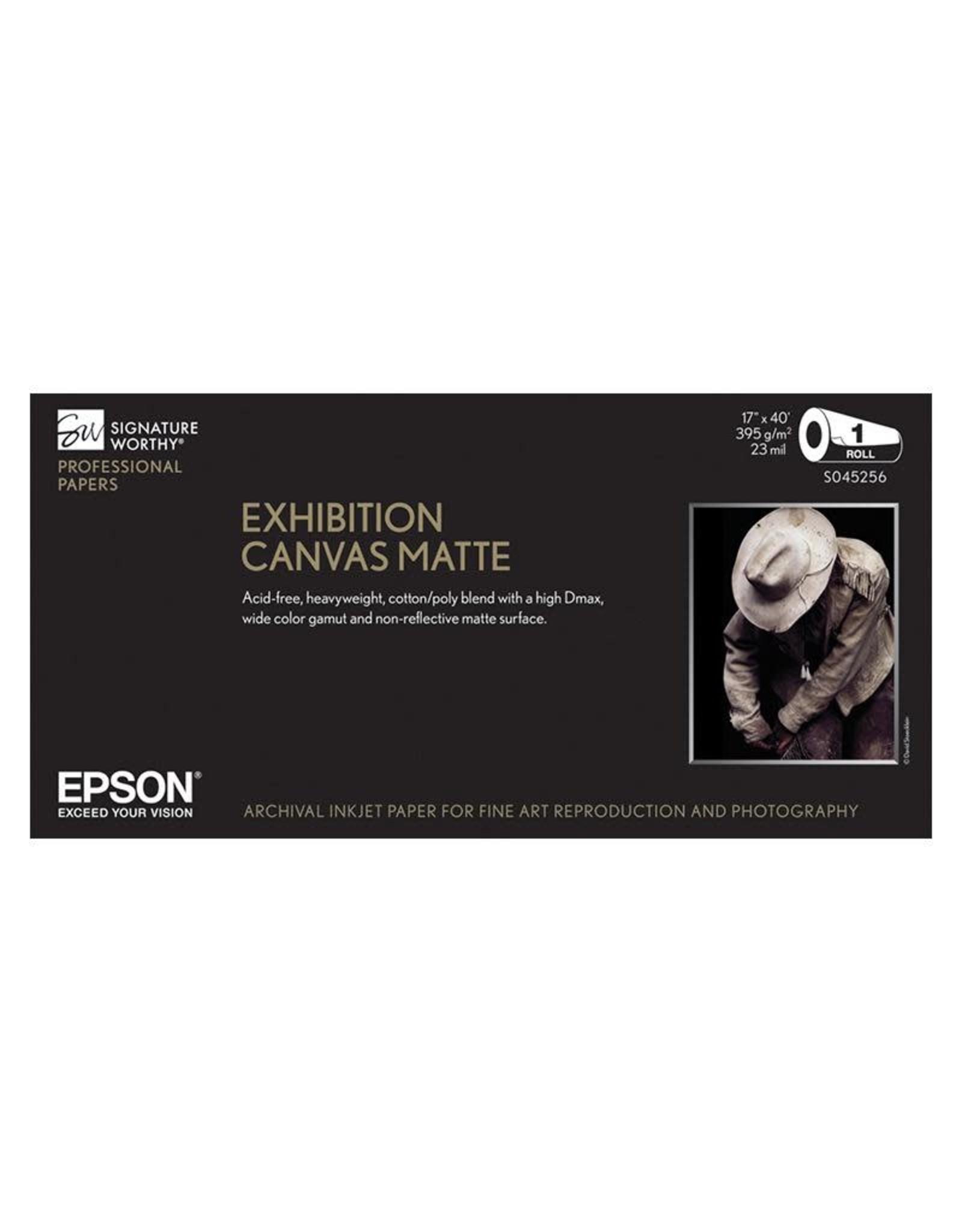 "Epson Epson Paper Exhibition Canvas Matte 44""x40' roll"