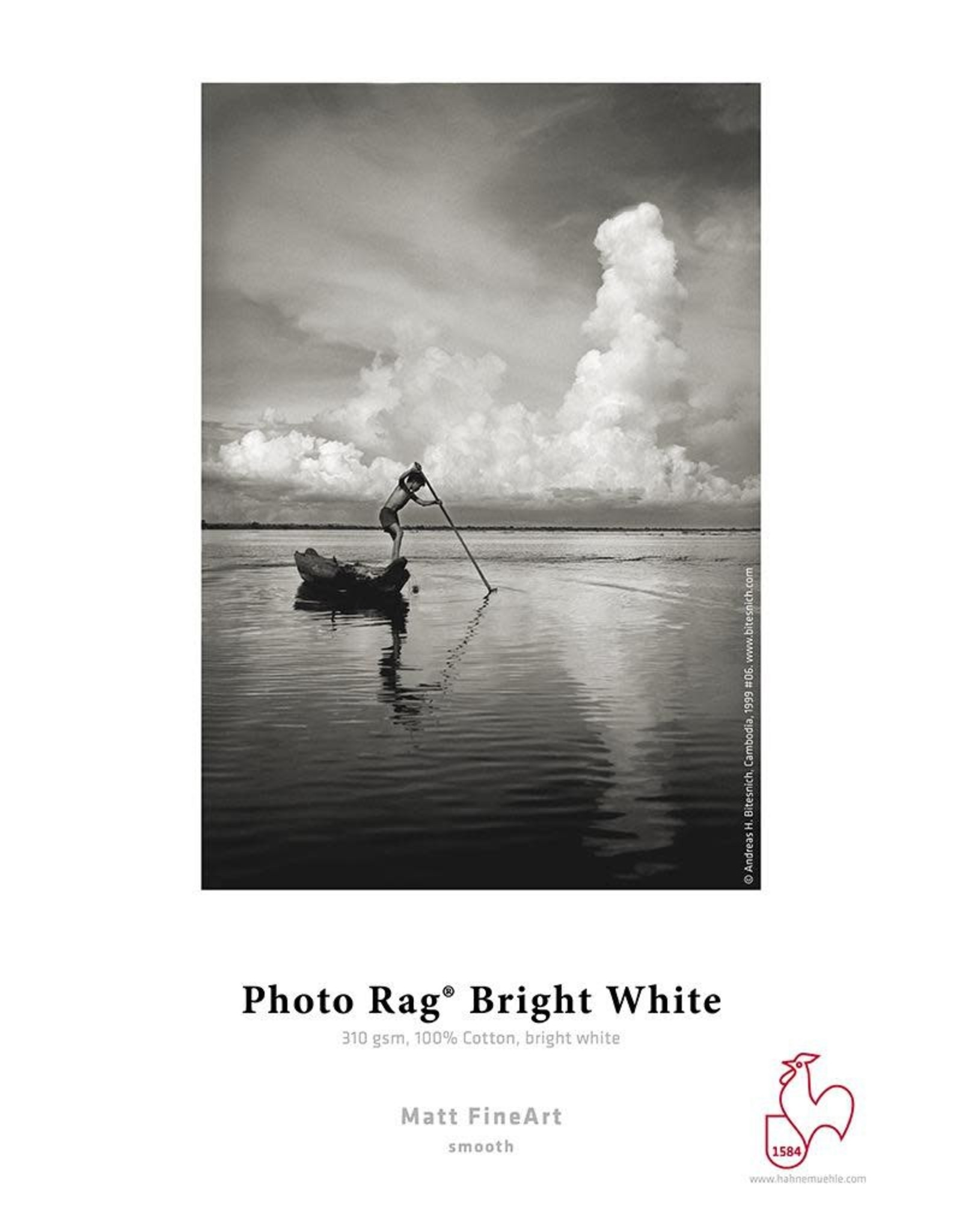 "Hahnemuhle Hahnemuhle Photo Rag® Bright White 310gsm 44"" x 39' Roll, 3"" core"