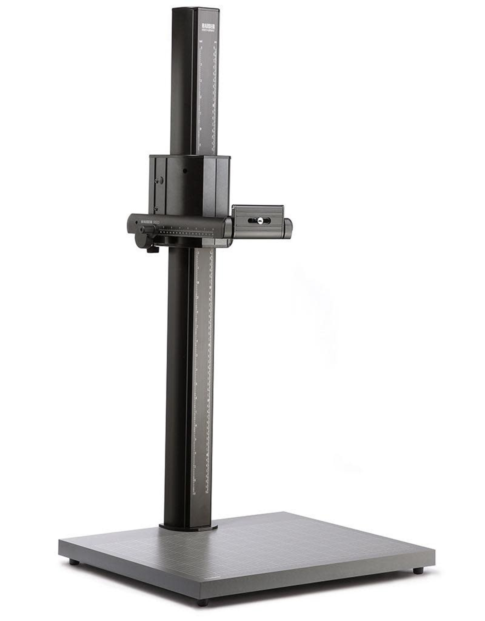 Kaiser Kaiser RSD mot Copy Stand, Base Plate (WxHxD): 680 x 38 x 570 mm (26.8 x 1.5 x 22.4 in.), Height of column: 1.20 m (3.9 ft.), Loading capacity: 8 kg (17.6 lbs.). Hight adjustment motorized, with two speeds.