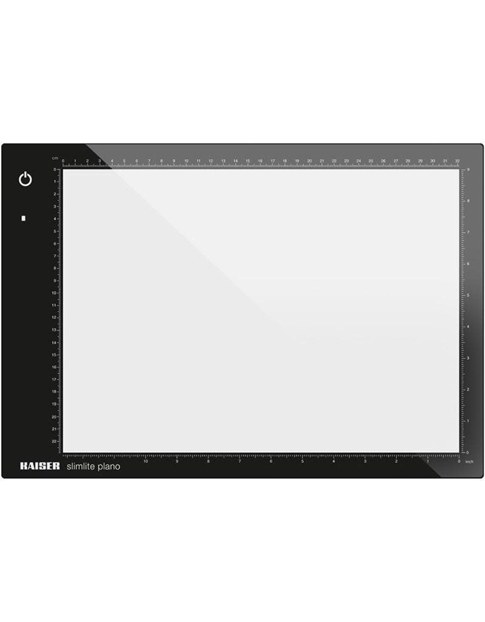 """Kaiser Kaiser """"slimlite plano"""" LED Light Box (Medium), 5000 K, dimmable, mains or battery operation, incl. mains adapter / charger, illuminated area 32 x 22,8 cm (12.6 x 9.0 in.) 100 - 120 V / 60 Hz, US-Plug"""