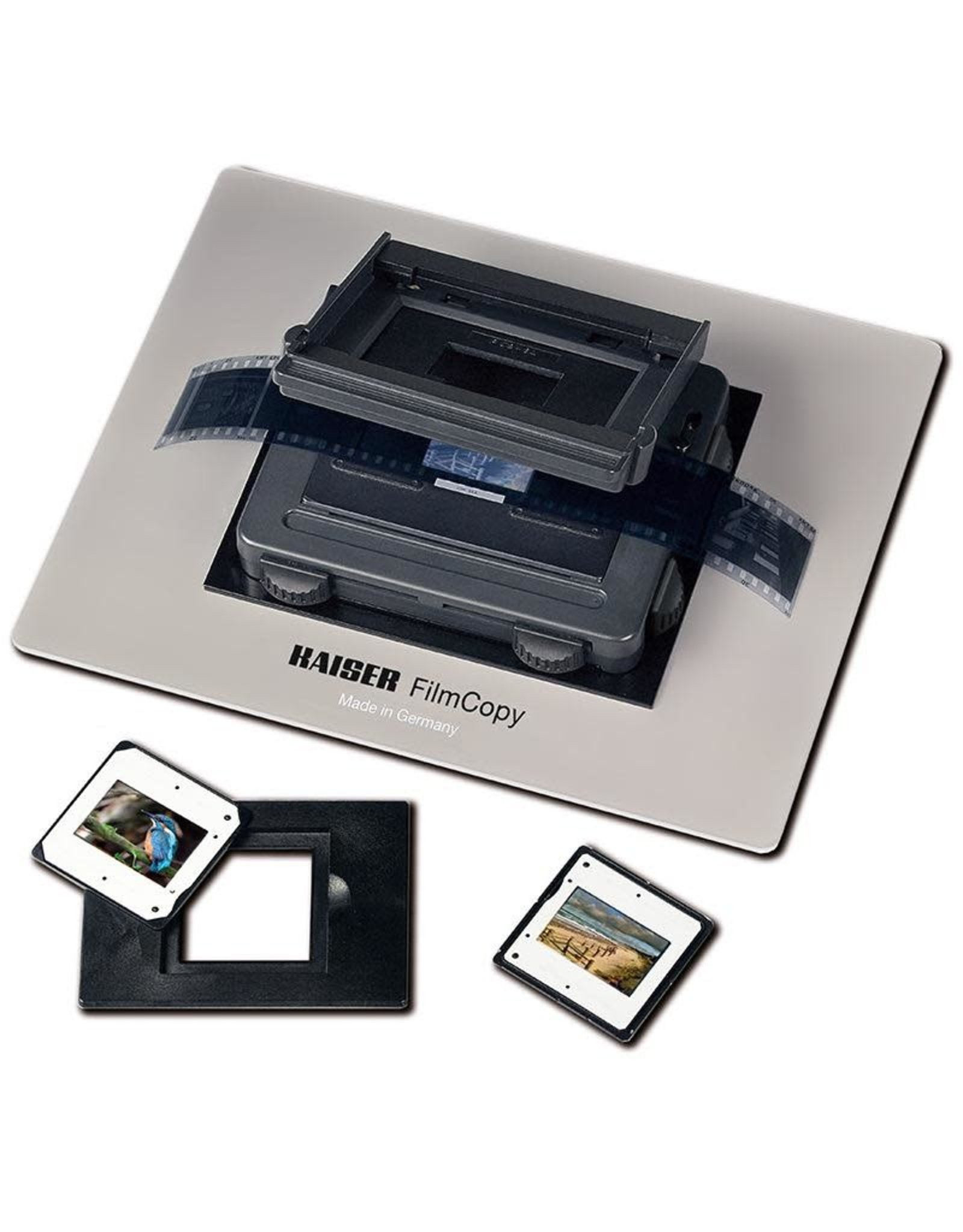 Kaiser Kaiser FilmCopy Vario. holding device for use on light boxes for digital capture of slides and negatives of various formats.