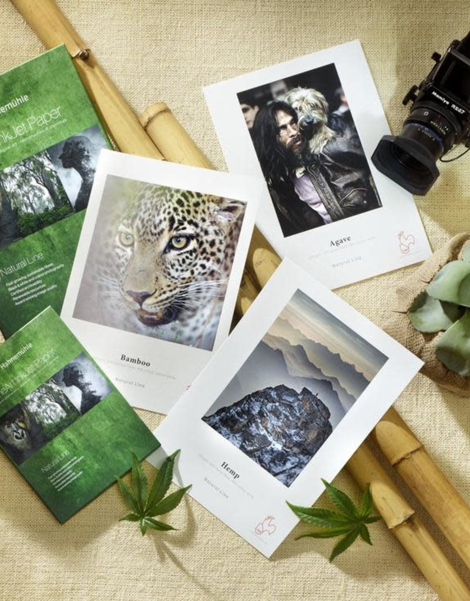 """Hahnemuhle Hahnemuhle Nature Line SAMPLE Pack 8.5""""x11"""" Includes: Bamboo, Hemp, Agave. 2 sheets of each"""