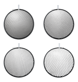 "Hensel Hensel Honeycomb 9"" Grid Set:  4 pcs., round, No. 1, 2, 3 and 4"