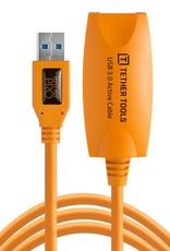 Tether Tools Tether Tools TetherPro USB 3.0 to USB Female Active Extension, 16' (5m), High-Visibility Orange