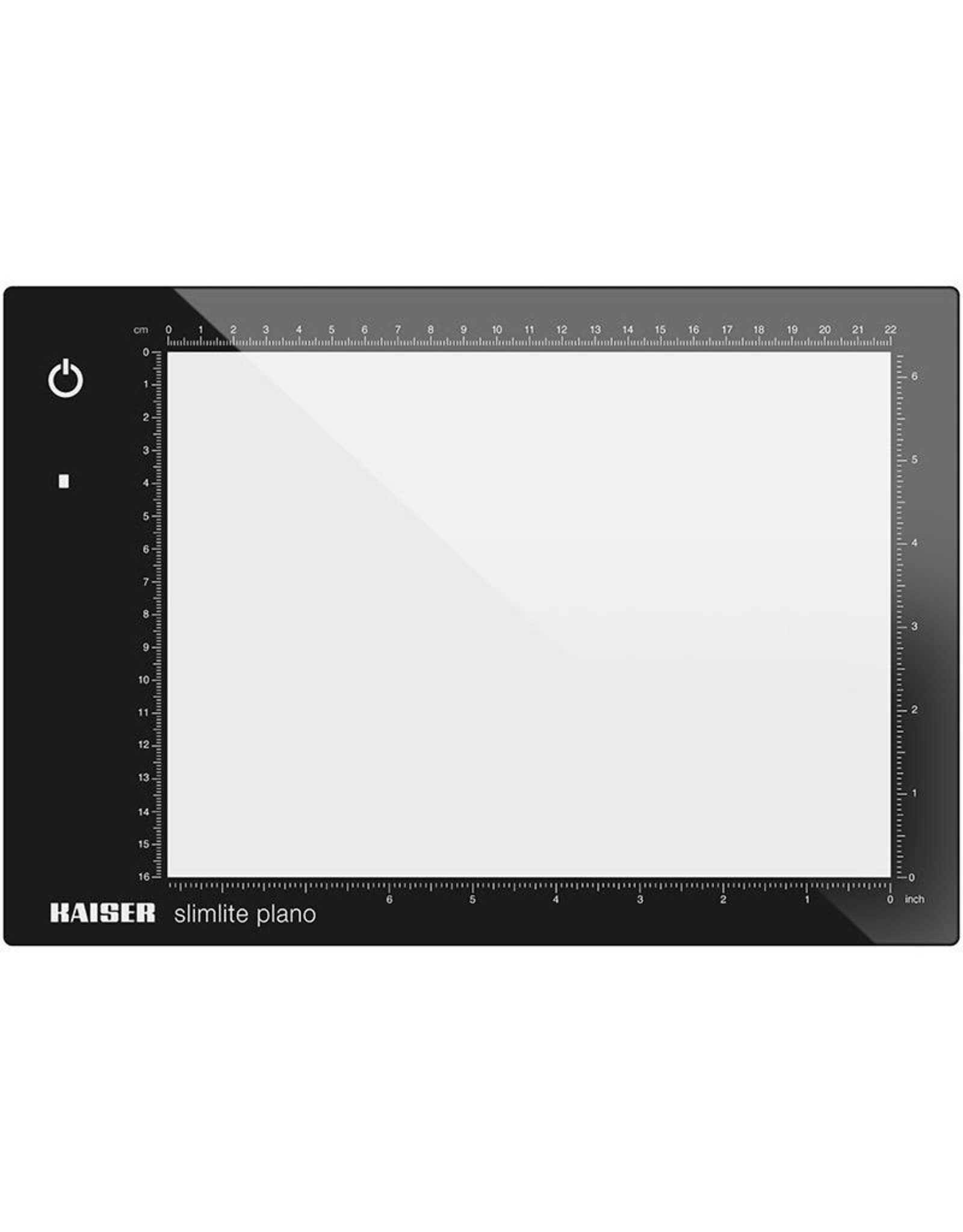 """Kaiser Kaiser """"slimlite plano"""" LED Light Box (Small), 5000 K,  dimmable, mains or battery operation, incl. mains adapter / charger, illuminated area 22 x 16 cm (8.7 x 6.3 in.) 100 - 120 V / 60 Hz, US-Plug"""