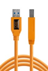 Tether Tools Tether Tools TetherPro USB 3.0 to Male B, 15' (4.6m), High-Visibility Orange