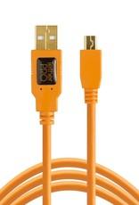 Tether Tools Tether Tools TetherPro USB 2.0 to Mini-B 5-Pin, 15' (4.6m), High-Visibility Orange