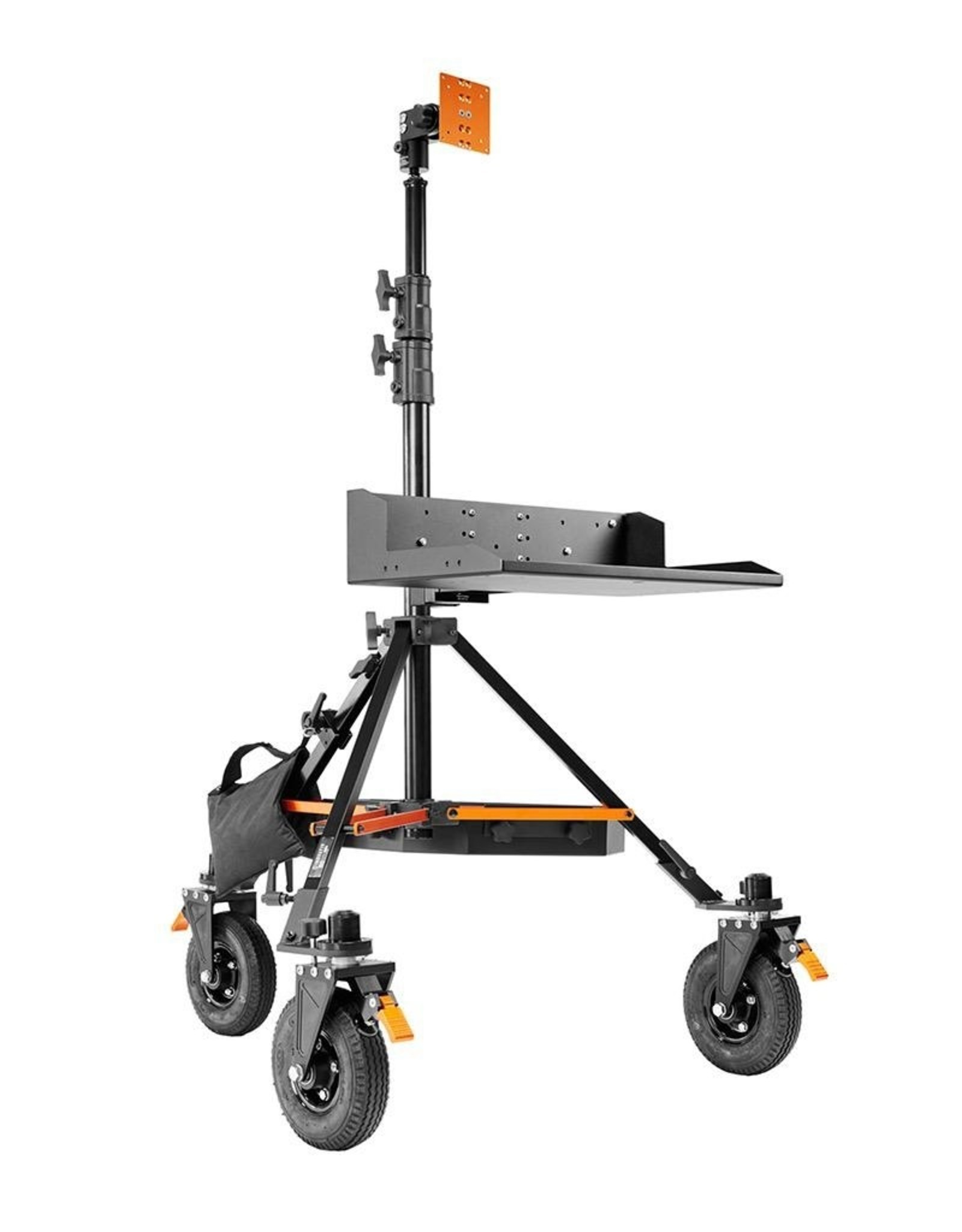 Inovativ Inovativ AXIS Digi Station. Includes the AXIS Stand + Wheel System, Digi Platform, Pro Monitor Mount, Trough and Weight Hanger + 25lb Weight Bag.