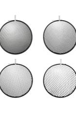 "Hensel Hensel Honeycomb 9"" Grid Set:  4 pcs., round, No. 1, 2, 3 and 4"