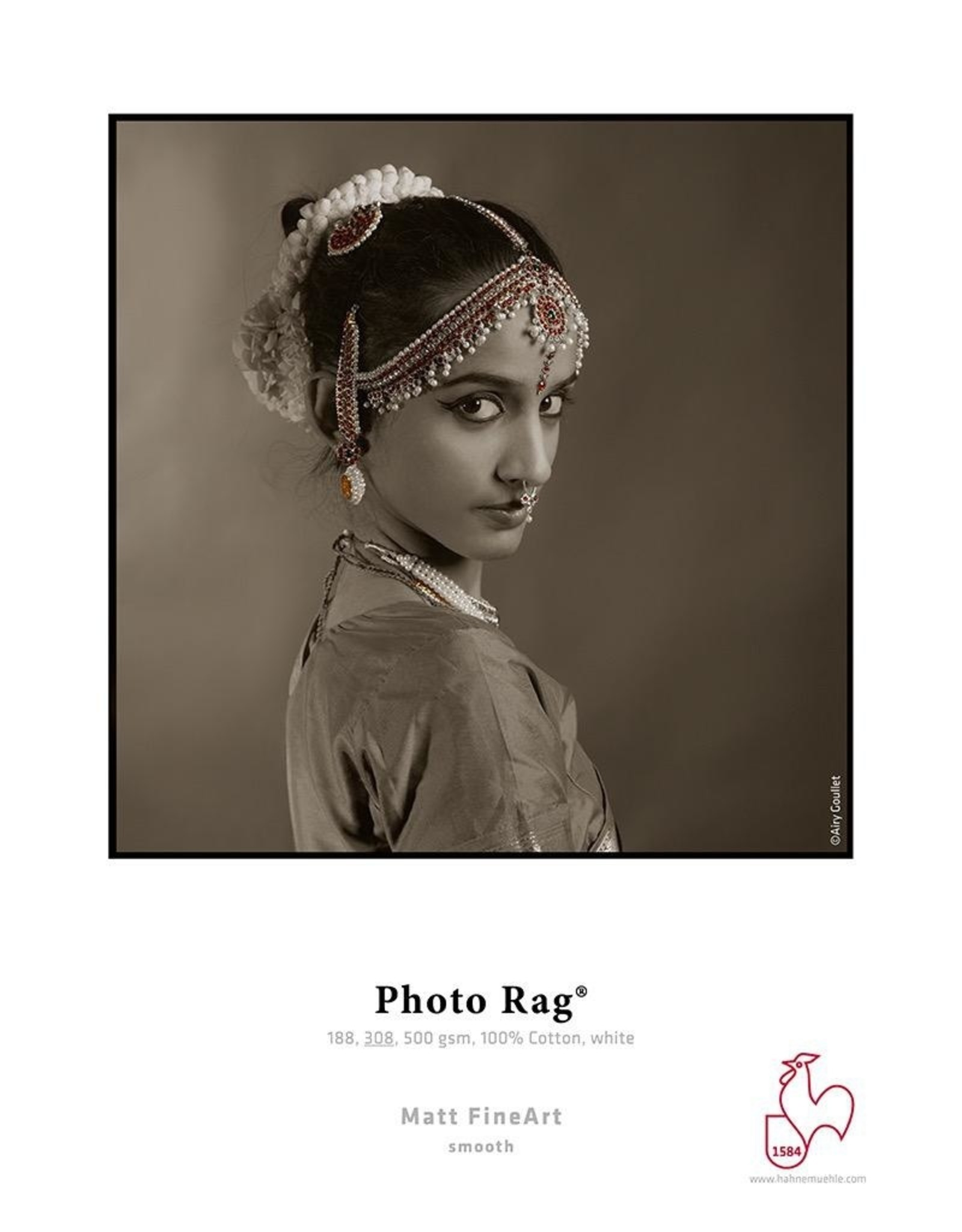 "Hahnemuhle Hahnemuhle Photo Rag® 308gsm 44"" x 39' Roll, 3"" core"